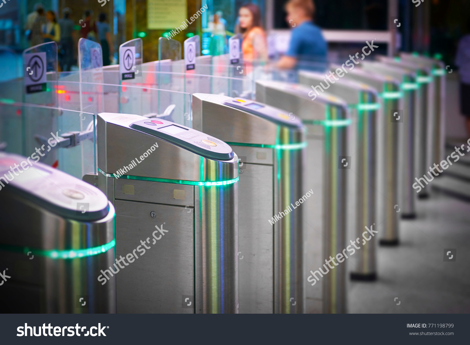 stock-photo-view-on-metro-station-ticket-barriers-with-green-light-for-entry-moscow-metro-station-station-771198799
