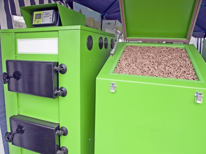 Large,Furnace,For,Pellets,,Renewable,Wooden,Material